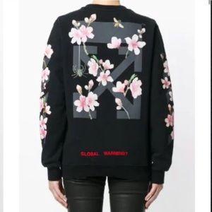 OFF WHITE women's cherry blossom sweatshirt